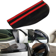 2x Universal Car Rear View Side Mirror Rain Board Sun Visor Shade Shield Black