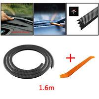 1.6M Carbon Fiber Car Dashboard Windshield Gap Sealing Strip Rubber Car Parts