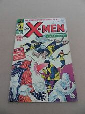 X- men  1 . Origin 1st App. X-Men - Kirby / Lee - Marvel 1963  - VG - minus 3.5