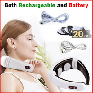 Rechargeable E Cervical Neck Massager Body Shoulder Relax Massage Relieve Pain