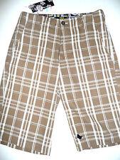 Lost Big Plaid Board Shorts mens Brown 31 $50