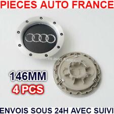 4 Cache Moyeu Centre Roue Enjoliveur Logo insigne Pour Audi146MM 8D0601165K