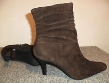 White Mountain Brown Suede Ankle Boots, Women's Size 7.5 M