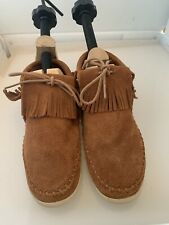 MINNETONKA Venice BROWN Bootie 452T FRINGE Leather Shoes Womens Size 6.5