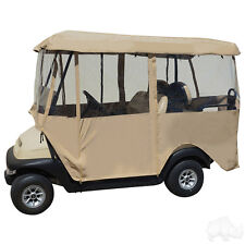 "Deluxe 80"" 4-Sided Fabric Enclosure 4 Passenger Golf Cart with 80"" Canopy Top"