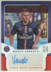 Panini 2015 Donruss Future Stars Marco Verratti auto card PSG