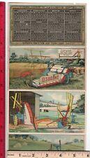 Farm Equipment OSBORNE COLUMBIA 5-panel Folder 1904 Calendar Binder Trade Card