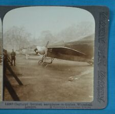 More details for ww1 stereoview photo captured german planes displayed whitehall london underwood