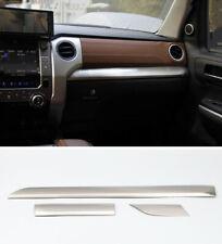 Steel Matte Dashboard Center Console Stripe Trim For Toyota Tundra 2014-2019