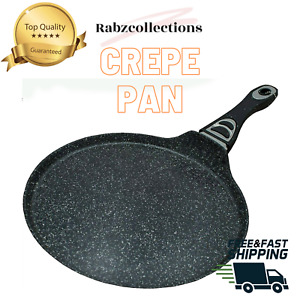 Non Stick Roti Chapati Tawa Crepe Pizza Pan Granite Marble Coated Pancake Maker
