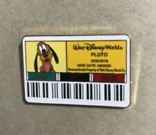 Disney Pin WDW Cast ID Badge Card Pluto Limited Edition