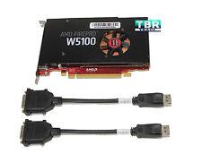 Dell W2C47 AMD FirePro W5100 4GB Quad Port Graphics Video Card DP DisplayPort