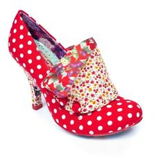 "Irregular Choice ""Flick Flack' (Be) rojo del lunar Alto Zapatos Tacón Stiletto"