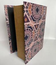 "Large Faux Book MDF Storage Box Floral Print Design 9.5"" x 12.5"" x 3.5"""