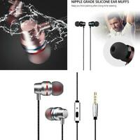 Earphones Headphones Headset Earbuds In-Ear Bass Stereo Hi-Fi with MIC Wired