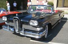 Vintage Yat Ming Black&Red 1:18 Die Cast 1958 Edsel Citation Convertible & case