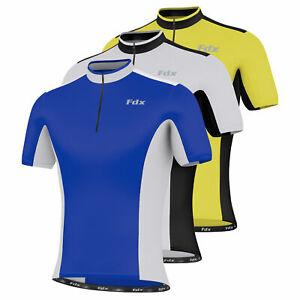 FDX Mens Cycling Jersey Half Sleeve Top Cycle Racing Team Quality Biking Top