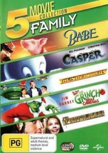 Babe / Casper / Thunderbirds / The Grinch / Peter Pan DVD Set (Pal, 3 Disc)