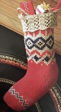FCX1 - Knitting Pattern - Traditional Christmas Stocking - Xmas