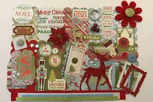 Blitzen Merry Christmas Custom Mini Book Chipboard Album Kit Scrapbook