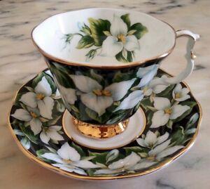 Royal Albert Bellissima tazza da the serie Provincial Flowers Trillium