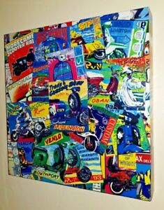 original handmade scooter rally patch print picture