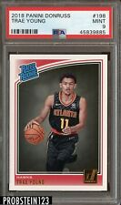 2018 Panini Donruss Trae Young PSA 9 Mint Rookie RC #198