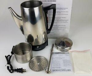 Farberware FCP412 Percolator 12-Cup Stainless Steel, Missing Handle on Lid