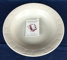 Longaberger Pottery - Ivory Woven Traditions - Serving Bowl 12 Inch - Saucer New