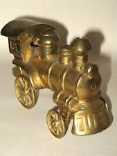 """Solid Brass Train Locomotive Engine 6 1/4"""" made in India"""