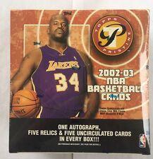 2002-03 Topps Pristine Factory Sealed Basketball Hobby Box