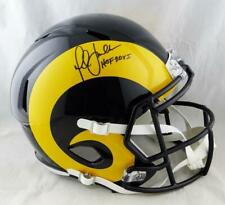 Marshall Faulk Signed Rams F/S Color Rush Speed Helmet w/HOF- Beckett Auth *Blk