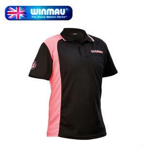 Winmau Wincool 2 Breathable Darts Shirt, Black & Pink in Medium