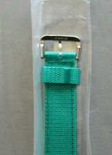 CASIO Green NYLON ONE PIECE 20mm WATCH STRAP BAND SILVER BUCKLE
