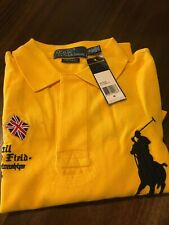 POLO RALPH LAUREN THE TRACK AND FIELD CHAMPIONSHIP BRAZIL PADDY FLAG JERSEY (M)