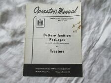 Farmall Tractor Battery Ignition Package Operators Installation Manual