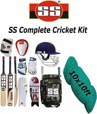SS Original Brand Full Cricket Complete Kit Ideal for Men's With Cricket Net