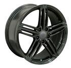 18x8 Black Wheels For Audi A4 A8 Q5 VW CC Jetta GTI 18 Inch +35 5x112 Rims Set 4