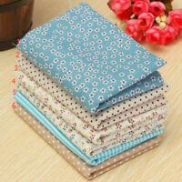6PCS Floral Cotton Fabric Bundle Patchwork Scraps Quilting Sewing Crafts 25X25cm
