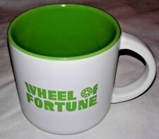 WHEEL OF FORTUNE GREEN & WHITE STONEWARE MUG *NEW*
