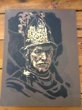 Vintage Mid Century Rembrandt Man In Golden Helmet Paint by Numbers Art Painting