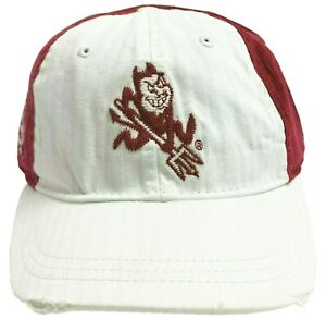 Arizona State Sun Devils NCAA Embroidered Short Bill Red Corduroy Strap-Back Hat