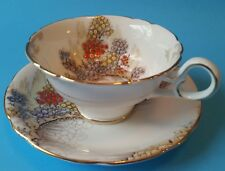 Hand Painted Royal Stafford Tea Cup and Saucer - 1950s