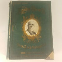 Konung Oscar II Green Antique Book Swedish USE FOR..Crafting Journal Diary