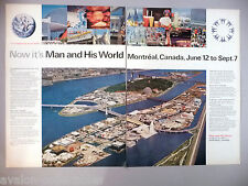 """""""Man and His World"""" Montreal Expo Double-Page PRINT AD - 1970"""