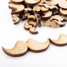 Wooden MDF Shapes Moustache Lips Scrapbook Embellishments Decoration Card Making