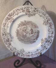 Copeland Spode, Spode's Byron, Brown Dinner Plate