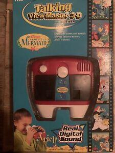 1997 Disney Little Mermaid Talking View Master 3D Viewer Tyco Set w/ Reels NIB