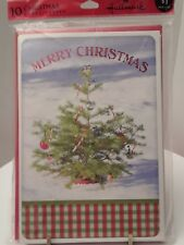 Hallmark Christmas Holiday Greeting Cards Christmas tree 10 cards with envelopes