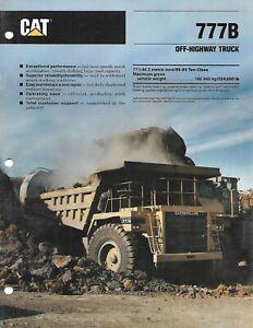 Equipment Brochure - Caterpillar - 777B - Off-Highway Dump Truck - 1990 (E6643)